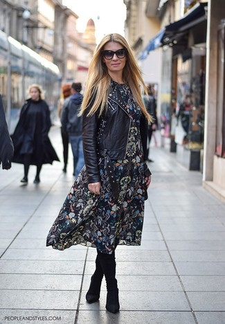 Get Biker Boots With Midi Dress Images
