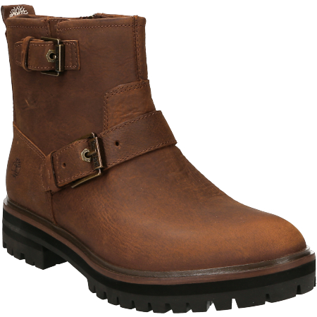 Get Timberland London Square Biker Boots Brown PNG